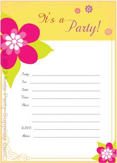 Kids Party Supplies Free Printable Luau Invitation