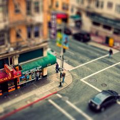 From a couple years back. Faux tilt shift of a corner in #sanfrancisco. #tiltshift