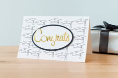 Congrats Graduate Card. Make It Now with the Cricut Explore in Cricut Design Space