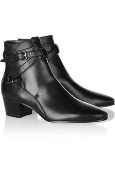Saint Laurent|Leather ankle boots