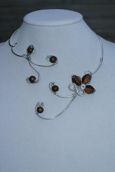 Wedding jewelry  Prom jewelry  Brown par LesBijouxLibellule sur Etsy, $30.00