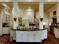 Kitchen with a back staircase | For the Home | Pinterest