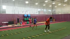 #tbt  August 2019 TP2 athletes Gianna, Amelia and Treo working on ground contact and coordination. Football Training Drills, Soccer Drills, Sprinter Workout, Volleyball Workouts, Volleyball Quotes, Volleyball Gifts, Agility Ladder Drills, Ladder Workout, Speed Workout