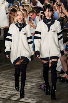 This New Supermodel Will Be as Big as Gigi Hadid Before You Know It Delilah Belle Made Her Runway Debut at Tommy Hilfiger She sported an oversize jacket, striped knee socks, and a bandana down the Pier 16 runway.