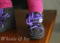 Baby Moccasin Boots « The Yarn Box The Yarn Box