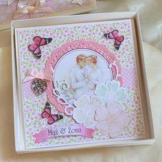 Kolejna już kartka ślubna - bo inspiracji nigdy za wiele :)