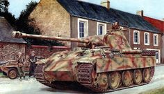 Panther with swimmwagen in the background