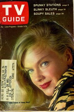 Sep 3 - 9 1960 TV Guide Arlene Francis NC Edition