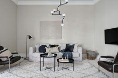 Modern living room in beige tones