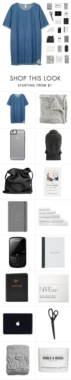 """""""hhmmm"""" by abbeyso ❤ liked on Polyvore featuring Monki, Nearly Natural, Ann Demeulemeester, H&M, Sheridan, FOSSIL, NARS Cosmetics, HAY and Windle & Moodie"""
