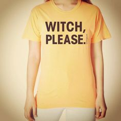 Witch Please - Orange Cotton T-shirt - FREE SHIPPING  From PamelaFugateDesigns on Etsy