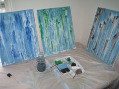 david bromstad using spray bottle to create abstract art | Clever Jenoe: Thanks David Bromstad!