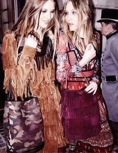 Burberry showcases its fringe looks for fall-winter 2015 advertisements.