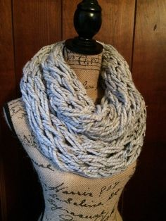 Chunky Arm knitted Infinity Scarf Chunky Cowl by WendysWonders127
