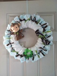 Diaper Wreath Tutorial is perfect for a Baby Shower