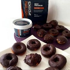 Chocolate Peanut Protein Donuts! WOW! These are EPIC. Surely, the best high protein recipe ever created ;-). Check out the full recipe!