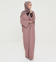 Rose Taupe Belted Wrap Kimono - £60.90 : Inayah, Islamic Clothing & Fashion, Abayas, Jilbabs, Hijabs, Jalabiyas & Hijab Pins