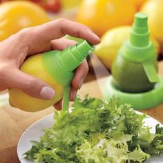 For real?? Turn lemons, limes, and oranges into spray bottles - perfect for misting citrus flavor. #Solutions