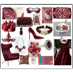Pantone Colour of the Year Marsala Pantone 2015, Pantone Color, February 2015, Color Of The Year, Marsala, Collage Art, Colour, Polyvore, Fashion