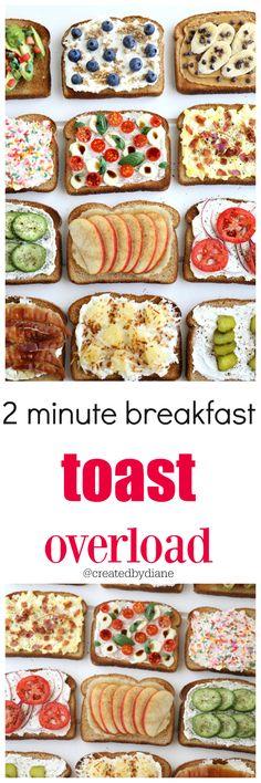 2 minute breakfast toast overload @createdbydiane