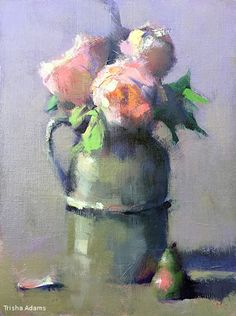 Pewter Jug by Trisha Adams Oil ~ 16 x 12