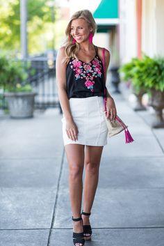 """Sleek And Sweet Skirt, White"""