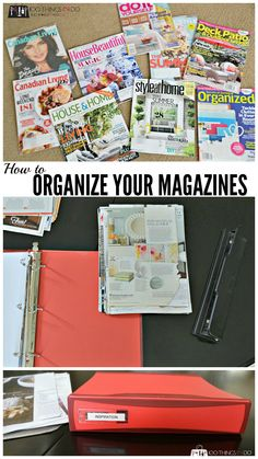 How to organize your magazines to save the inspiration, but reduce the clutter