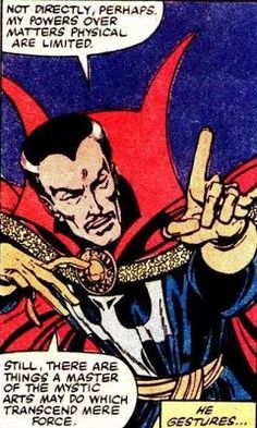 """Strange joins with the Avengers and the Fantastic Four to battle against Galactus in his bid to devour the earth in FANTASTIC FOUR """"Shall the Earth Endure? Fantastic Four, Doctor Strange, Comic Character, Occult, Loki, Comic Art, Mystic Arts, Avengers, Weird"""