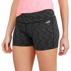 Avia Women's Active 3 inch Captivate Bike Shorts, Size: 2XL, Gray