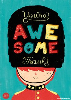 you're awesome illustration