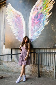 Angel wing paintings by Collette Miller can be found in the Arts District in downtown Los Angeles [wings] Ange Demon, Wow Art, Street Art Graffiti, Chalk Art, Art Plastique, Urban Art, Amazing Art, Art Drawings, Art Photography