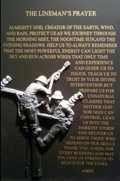 The Lineman's Prayer