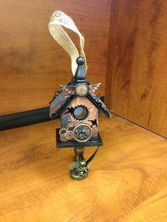 Steampunk altered birdhouse o_O