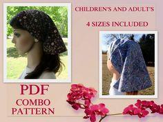 Veil Headcovering Pattern Adult Veil Head covering Pattern PDF Tutorial Hair scarf Pattern Bandana Pattern DIY Sewing Pattern Childrens. $15.00, via Etsy.