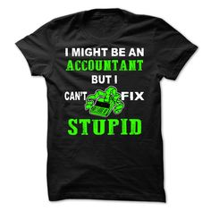 T shirt with Quote. Accountant
