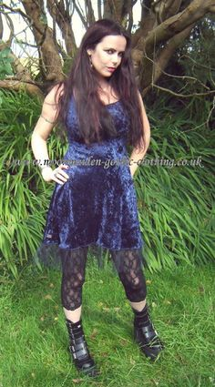 05b69382761d Net Hem Mini Dress by Moonmaiden Gothic Clothing UK