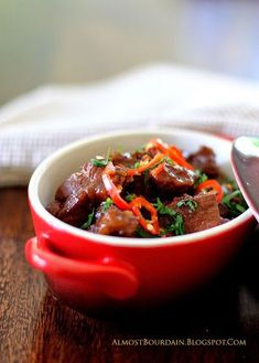 Almost Bourdain: Babi Kecap (Slow Braised Pork with Ginger, Chilli & Sweet Soy Sauce)
