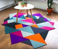 Recycled DIY Tangram Inspired Modular Carpet: Recently posted another carpet tiles based project and Carpet Diy, Best Carpet, Modern Carpet, Frieze Carpet, Carpet Tiles, Wall Carpet, Diy Recycle, Reuse, Carpet Design