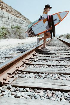Rosy Hodge crosses the tracks to Trestles