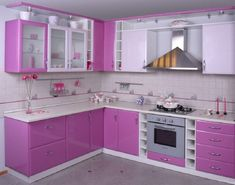 Beautiful pink colors for kitchen design ideas as pink kitchen appliances with decorative design inspiration for your Modern Kitchen Designs 3 Kitchen Cupboard Designs, Kitchen Room Design, Kitchen Cabinet Remodel, Modern Kitchen Design, Interior Design Kitchen, Kitchen Pantry, Retro Kitchen Decor, Modern Kitchen Interiors, Elegant Kitchens