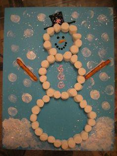 Marshmallow snowman!