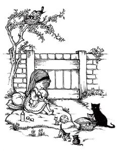 """Joan Walsh Anglund, illustration for the book """"Spring Is A New Beginning"""""""