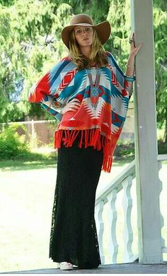 Beautiful western poncho