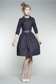 Custom Made Shirtwaist Cotton Dress by Mrs Pomeranz by mrspomeranz, £275.00