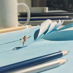 Escritório em miniatura de Derrick Lin