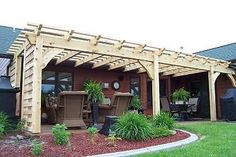 Attached House Pergola Plan