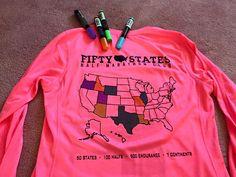 www.50stateshalfmarathonclub.com 50 States Half Marathon Club™ member club shirt painting creativity