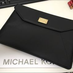 """New! Michael by Michael kors black silm sleeve New! Fits MacBook Air & MacBook Air pro (retina) 13"""" in size. 2 snap button closure. MICHAEL Michael Kors Accessories Laptop Cases"""