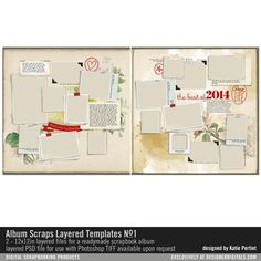 Album Scraps Layered Templates No. 01- Katie Pertiet - PSE/PS Templates- LT710227- DesignerDigitals