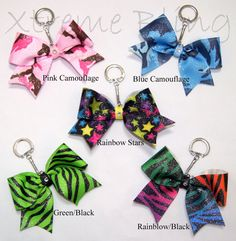 Glitter Cheer Bow Keychain by XtremeBling on Etsy, $7.00